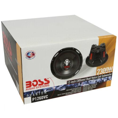 SUBWOOFER BOSS P126DVC 30 CM DVC 4+4 OHM 2300 WATT 1150 RMS 12 AUTO SPL GARE SQL