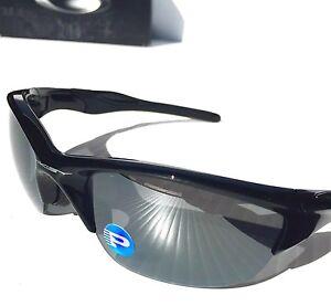 804eca4662 NEW  Oakley HALF Jacket 2.0 POLARIZED BLACK Iridium Lens Black ...
