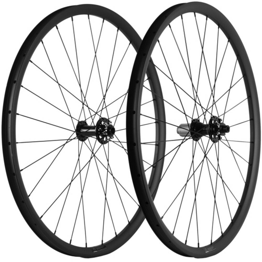 Mountain Bike 29er Carbon Wheelset 30mm Width Novatec hub Thru axle Hookless MTB
