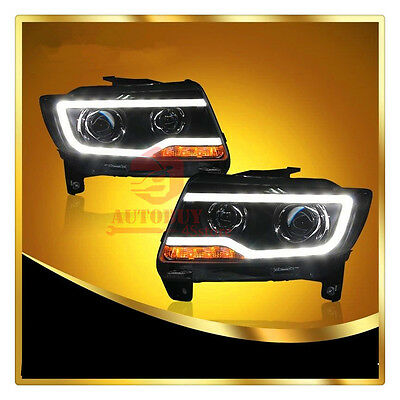 For 2011-2013 Jeep Compass/Grand Cherokee Headlights with Bi-xenon Projector