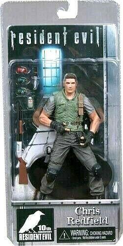 Resident Evil 10. Anniversary CHRIS rotFIELD figura PVC 16cm Neca