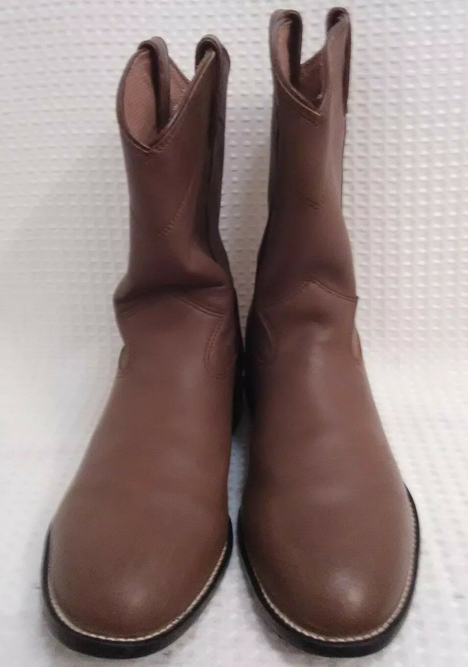 Justin 3410Y Roper Nubuck Cowboy Western Round Boots Youth US 5.5 D (Women's 7)