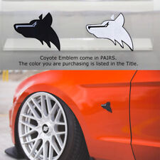 5.0 Mustang GT Red Fender Emblem Badge 3M StickOn F150 Coyote 2PCS