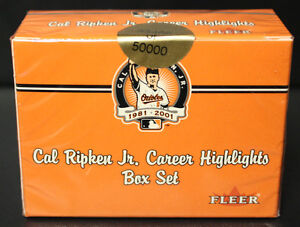 2001-Fleer-Cal-Ripken-Jr-carrera-Ltd-Ed-Sellado-60-Tarjeta-Set-En-Caja-1-2-Precio