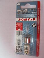 Maglite Lmxa201 Magnum Star Ii Xenon 2 Cell C Or D Mag Bulb Package Of 2
