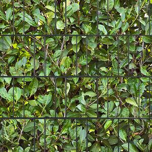 kirschlorbeer sichtschutz doppelstabmatten zaun bedruckte streifen pvc frei ebay. Black Bedroom Furniture Sets. Home Design Ideas
