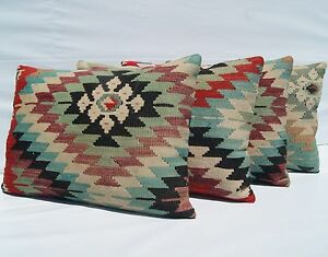 "Wool Multi Colored Area Rugs 20""x14"" Rugs & Carpets Geometric Pillow Covers Rectangle Wool 40"