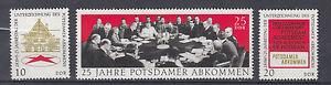 DDR Briefmarken 1970 Potsdamer Abkommen Mi.1598-1600 ** postfrisch - Forst (Lausitz), Deutschland - DDR Briefmarken 1970 Potsdamer Abkommen Mi.1598-1600 ** postfrisch - Forst (Lausitz), Deutschland