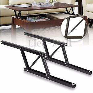 1 pair Lift Up Top Coffee Table Lifting Frame Mechanism Spring