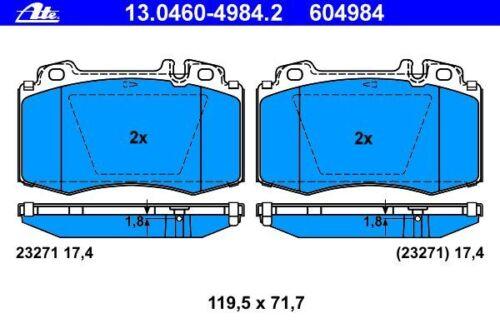 ATE BREMSSCHEIBEN Ø345mm+BELÄGE VORNE MERCEDES M-KLASSE ML W163 V6+V8+55 AMG