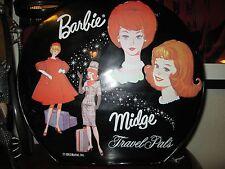 Vintage 1963 Black Mattel Ponytail Barbie Doll Carrying Carry Case Ken