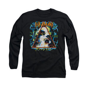 DEF-LEPPARD-HYSTERIA-Licensed-Men-039-s-Long-Sleeve-Graphic-Band-Tee-Shirt-SM-3XL