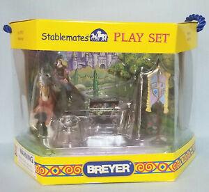 Breyer-5910-Stablemates-Medieval-Playset-Draft-Horse-Model-NIB