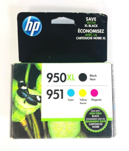 HP 950XL Black 951 Multi-Color Ink Cartridge HP Office Jet Pro 8600 Plus Sealed