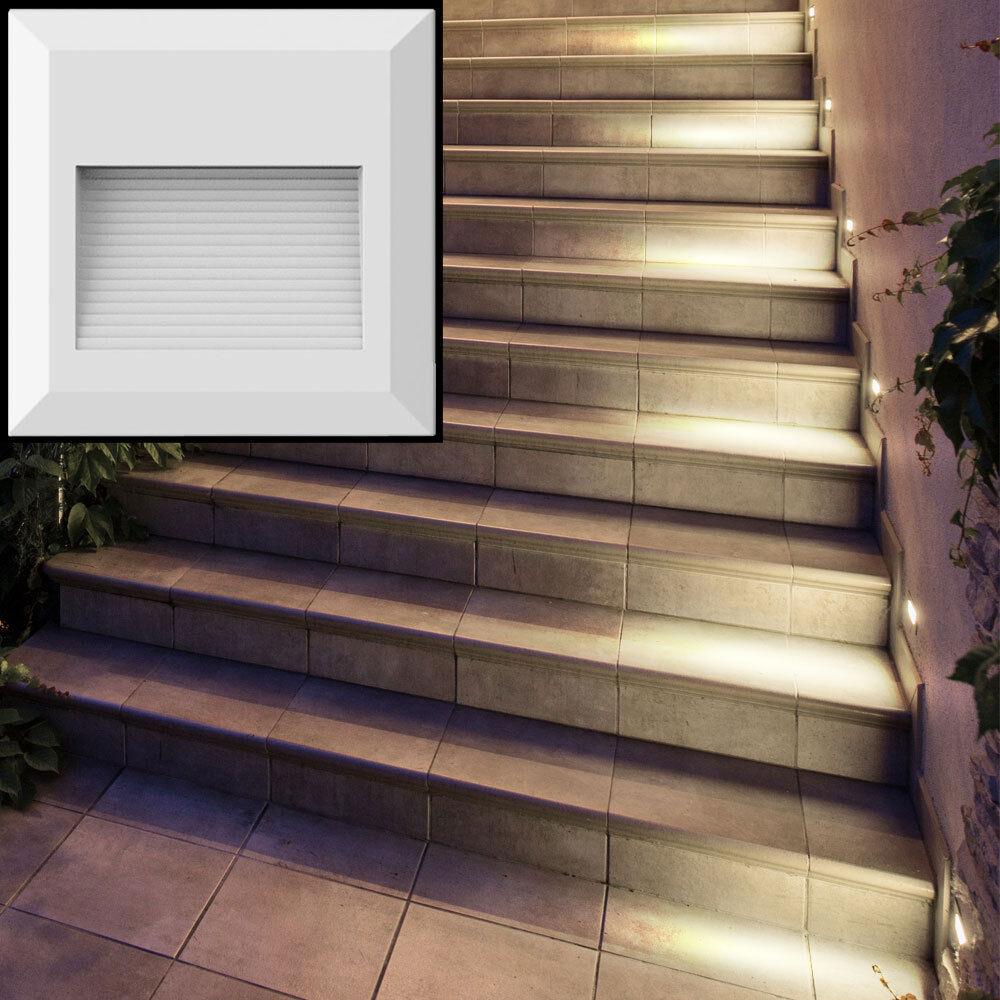 6er set LED estribo las luces acento emisor blancoo muro exterior Luces
