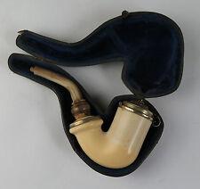 Cased meerschaum tobacco pipe. Smoking Tobacciana