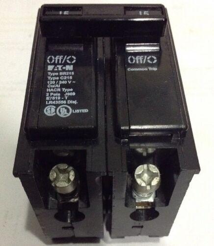 CUTLER HAMMER BR215 NEW CIRCUIT BREAKER 15A 2 POLE 120//240 VAC