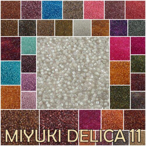 Delica 11//0 Miyuki Japanese Glass Seed Beads 1701-1757
