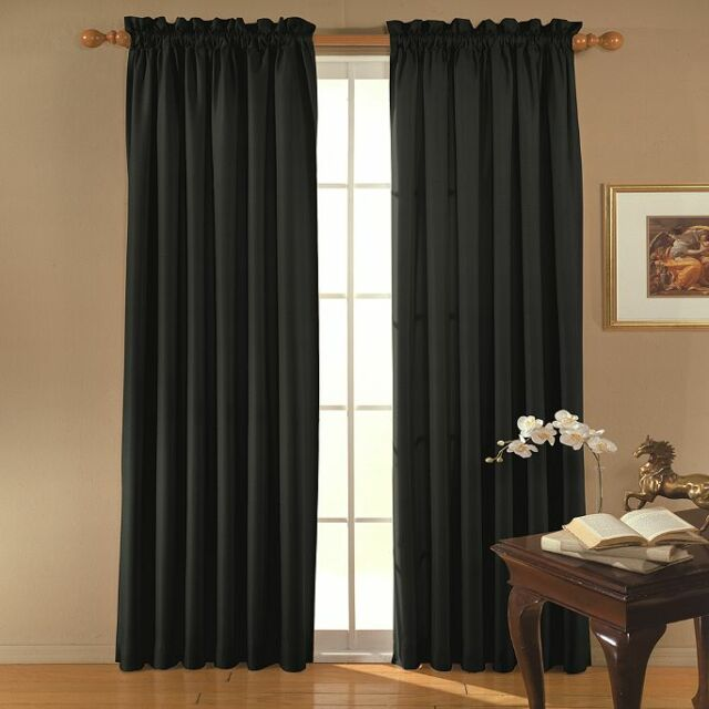 """2 Polyester Drape Panels 60""""x108"""" Curtains Photography Backdrop Wall Divider"""