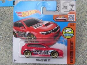 Hot-Wheels-2016-030-250-Subaru-Wrx-Sti-Rosso-034-Ghiaia-Rally-Equipaggio-034