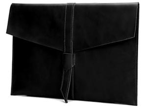 cow Leather file Folder pocket case Messenger bag Briefcase handmade black z624