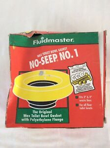 Details about Fluidmaster Wax Toilet Bowl Gasket No-Seep No  1 - NEW