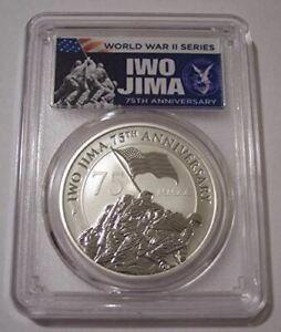 Tuvalu-2020-P-1-oz-Silver-Dollar-Iwo-Jima-75th-Anniversary-MS70-PCGS-FDI