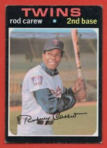 1971 Topps #210 Rod Carew VG-VGEX WRINKLE HOF Minnesota Twins FREE SHIPPING