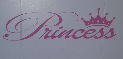 PRINCESS Stickers decals Girls PINK Childrens BEDROOM BED WALLDROBE CAR bike
