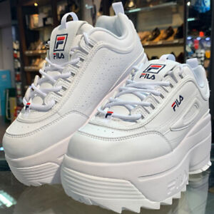 Details about FILA Women FS1HTB3031X Disruptor II 2 Wedge Shoes White