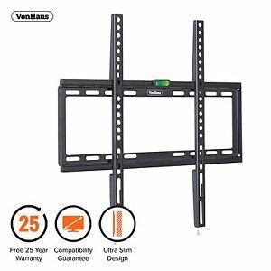 VonHaus-32-55-034-Fixed-TV-Wall-Mount-Bracket-with-Ultra-Slim-Design-amp-Spirit-Level