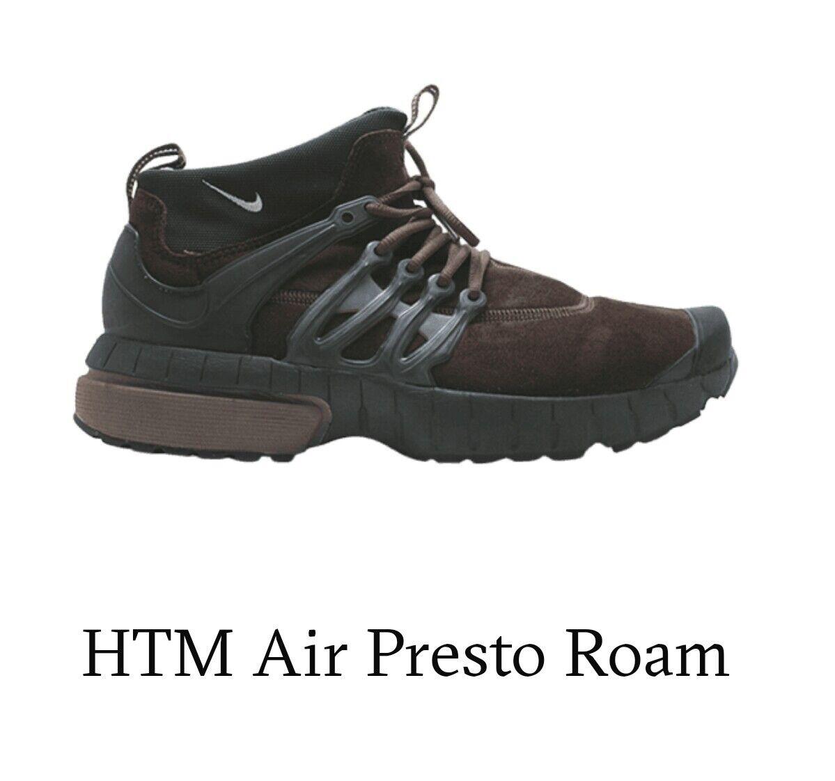 Da Uomo Nike HTM Air Presto Roam Taglia 10-11 Marronee, Nuovo di zecca, edizione limitata