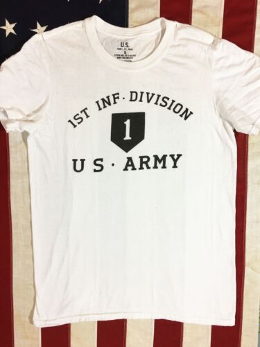 WWII US Army 1st Infantry Division PT Repro T Shirt w// Spec Tag Men/'s size XXL