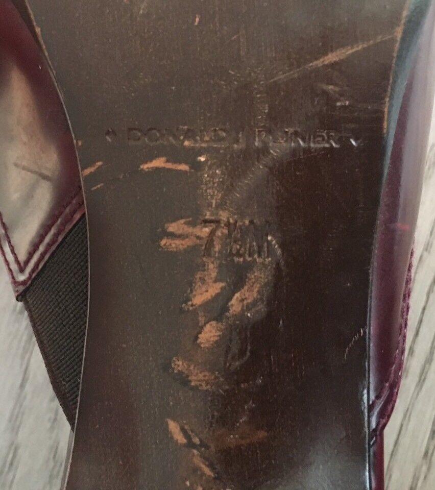 Donald Pliner ROT Buckled Kitten Distressed Mule Schuhe Heel Kitten Buckled ROT Leder 7.5M #394 4506b1