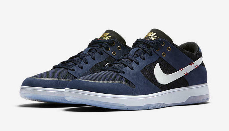 NIKE SB ZOOM DUNK LOW ELITE QS SZ 8.5 SEAN MALTO MIDNIGHT NAVY WHITE 877063-416