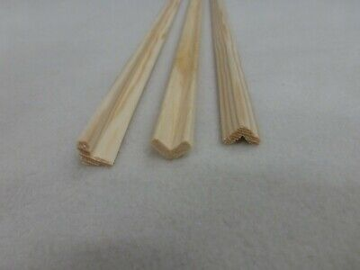 (b289) 1stk 90cm Winkelleiste Kiefer 10x10mm Holzleiste Kiefer