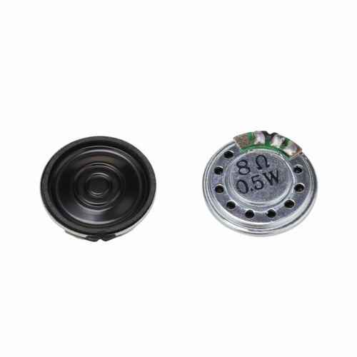 2pc 20mm 8Ohm 8Ω 0.5W Audio Speaker Stereo Woofer Loudspeaker Trumpet Horn JG