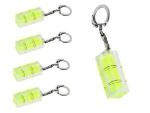 5 x Schlüsselanhänger Mini Wasserwaage gelb Kunststoff Handwerker Schlüsselbund