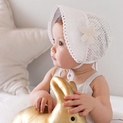 Newborn Baby Girls Boys Lace Sun Hat Infant Kid Beach Cap Summer Outdoor Bonnet