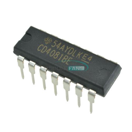 10PCS CD4081 CD4081BE Quad 2 entrada o y Puerta Original DIP-14 TI Chip IC