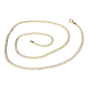 9ct Yellow gold Open Curb Link Chain