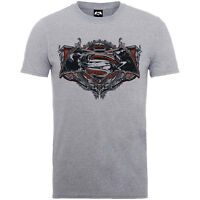 Batman Vs Superman T Shirt Grey Gothic Official Mens All Sizes Dawn of Justice