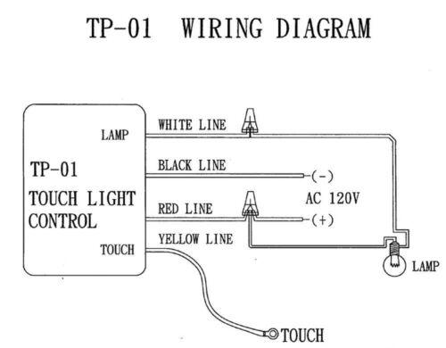 Zing Ear TP-01 ZH Low-Med-Hi Touch Light Lamp Switch Controller Module Sensor