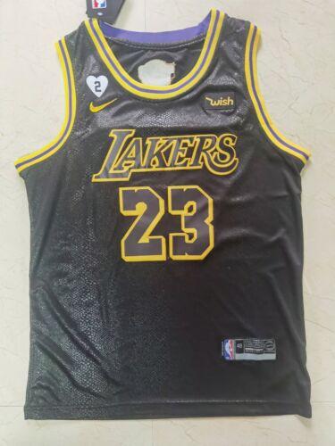 2020 Final Edition LeBron James #23 Los Angeles Lakers basketball jersey Black