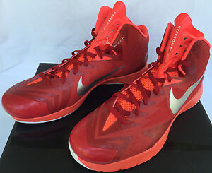 7cc1a177f27 Image is loading Nike-Lunar-Hyperquickness-652775-606-Red-Silver-Basketball-