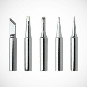 5pcs Soldering Iron Tips 900M-T-I//B//K//2.4D//3C Solder Rework Station Tool M205 QL