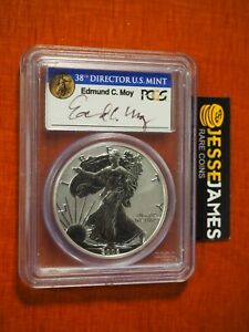 2006 P REVERSE PROOF SILVER EAGLE PCGS PR69 EDMUND MOY FROM 20TH ANNIVERSARY SET