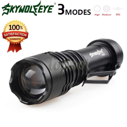 Super Bright 5000LM  Q5 AA//14500 3 Modes ZOOMABLE LED Flashlight Torch Lamp
