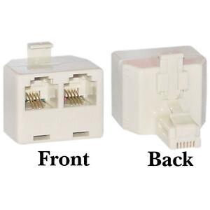 1x rj11 2 way telephone line socket splitter adaptor male. Black Bedroom Furniture Sets. Home Design Ideas