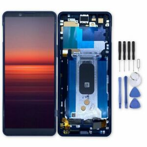 For Sony Xperia 5 II LCD Touch Scren Display Digitizer Replace Parts Blue +Frame